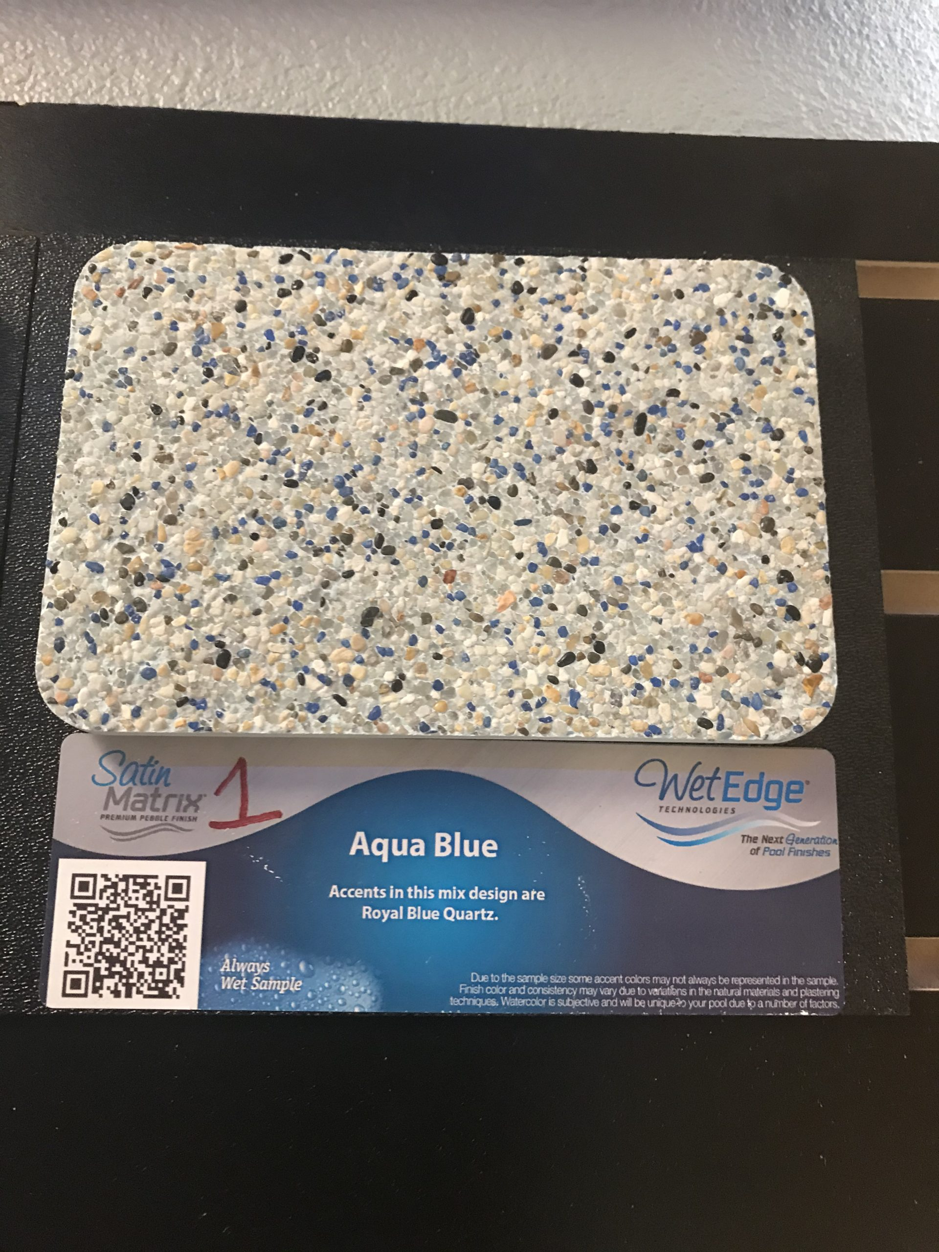 Aqua Blue Wet Edge